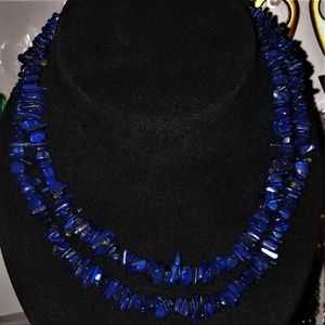 Jewelry - Long Lapis Chip Necklace